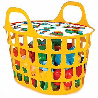 Pilsan 03290 Super Building Blocks Set from 1 year 52-piece in bag with handle