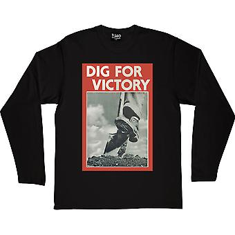 Dig For Victory Black Long-Sleeved T-Shirt