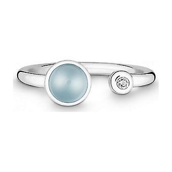 QUINN - Ring - Silver - Diamond - Blue Topas - Wess. (H) - Width 56 - 21191658