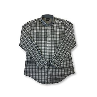 HUGO BOSS Ridley slim fit cotton shirt in grey tartan