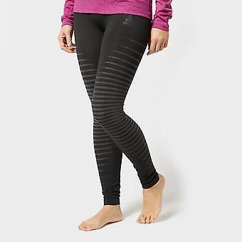 New Odlo Women's SUW Performance Light Baselayer Pant Black