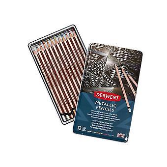 Derwent Metallic Colour Pencils 12 Tin