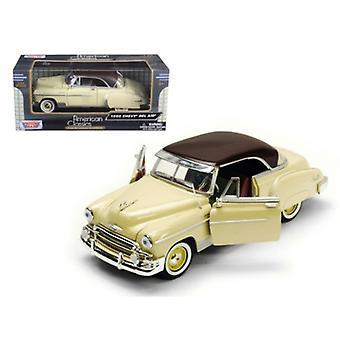 1950 Chevrolet Bel Air Cream 1/24 Diecast Model Car by Motormax