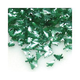 Árvores de Natal verdes comestíveis do brilho da poeira do arco-íris