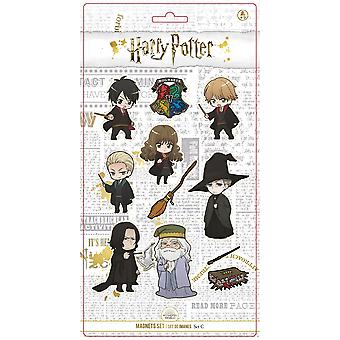 Harry Potter Magnetic Set C Chibi Style 11-piece, printed, 100% plastic, in blister packaging.