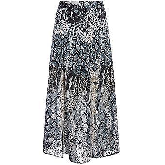 Alice and Olivia Anthea Animal Print Midi Skirt