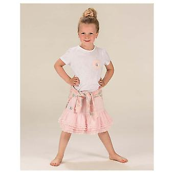 The Essential One Girls Fine Stripe Bunny Pocket T-shirt