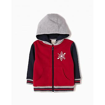 Zippy Jacke Kapuzen Fleece Rio Rot