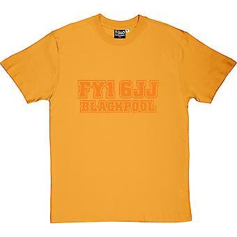 Blackpool Código Postal Amarillo Hombres's Camiseta