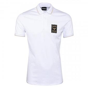 Emporio Armani White Stretch Short Sleeve Polo T-Shirt 6G1FG0