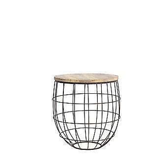 Light & Living Side Table 58x61cm Divan Rust-Lemn