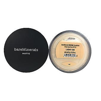 Bareminerals fond de teint original mat fps 15 lumière 0,28 oz pour le visage fe04657
