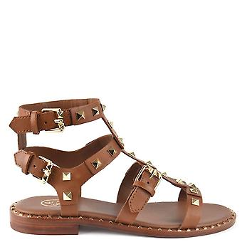 Ash PACIFIC Sandals Brown Leather & Studs