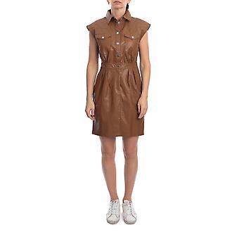 Pinko 1g14lx7866c93 Damen's braunE Viskose Kleid