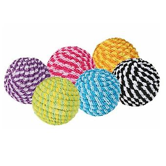 Trixie Spiral Ball Assorted Color (Cats , Toys , Balls)