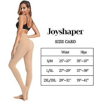 Opaque Control Top Tights for Women (Nude-0305, S/M)