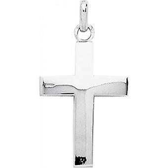 Croce Cristo o 750/1000 ciondolo bianco (18K)