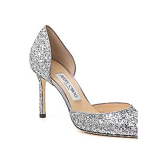 Jimmy Choo Esther85bogskumix Women's Silver Leather Pumps