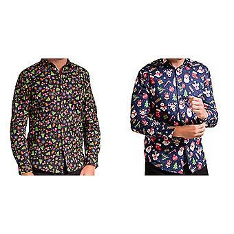 Christmas Shop Mens tryckt jul skjorta