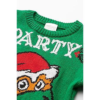 Nickelodeon Boys' Ugly Christmas Sweater, Party Dude/Green, Small (6/7)
