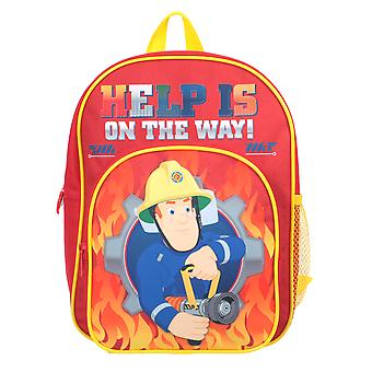 Fireman Sam Help on The Way Pocket Backpack Red