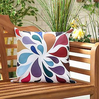 Tröpfchen mehrfarbig wasserbeständig Outdoor Scatter Garten gefüllt Kissen gedruckt 18