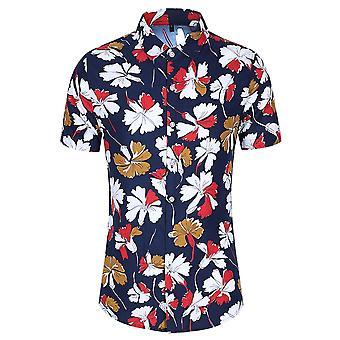 Allthemen Men's T-shirt floreali stampate Hawaiian Summer Beach Tops