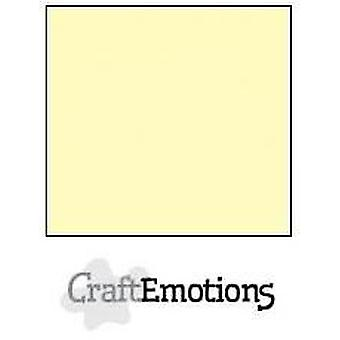 CraftEmotions linnen karton 10 Sh lichtgeel 30,0x30,0cm / LC-10