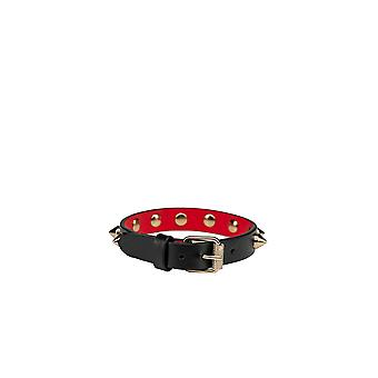 Christian Louboutin 1205100cm6s Women's Black Leather Bracelet