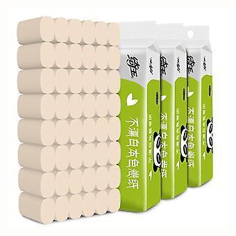 4-warstwowy miękki papier toaletowy domowego tkanki naturalnego pulpy papieru 10 rolek