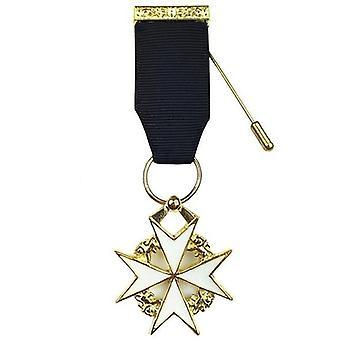 Masonic ridder van malta borstjuweel