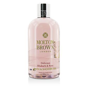 Delicious rhubarb & rose bath & shower gel 300ml/10oz
