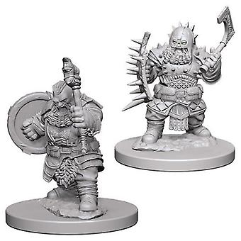 Pathfinder Deep Cuts Unpainted Miniatures Dwarf Male Barbarian (Pack de 6)