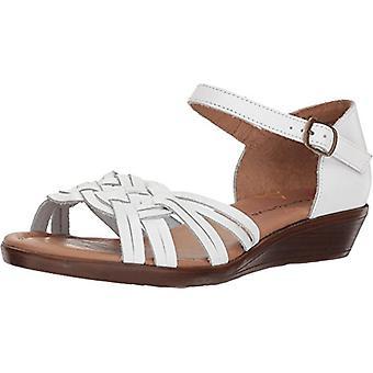 Comfortiva Womens Fortune leer Open teen Casual enkel riem sandalen