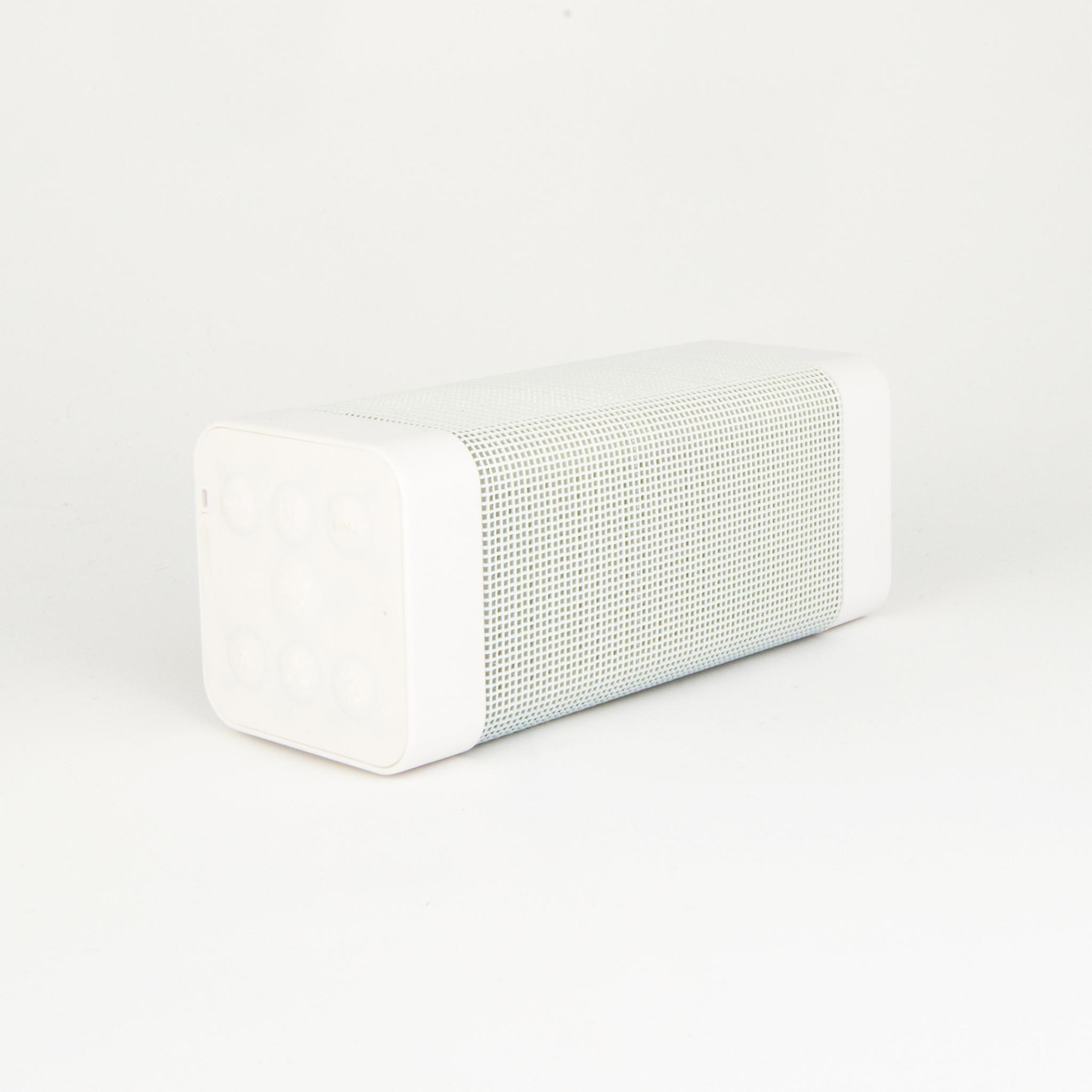 Wireless Bluetooth Speaker with Colorful LED Light Disc Dancing - White
