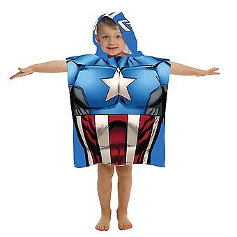 Marvel Captain America Youth Hooded Poncho Towel