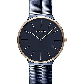 Obaku Ark Ocean Blue Tone Wristwatch V240GXSLML