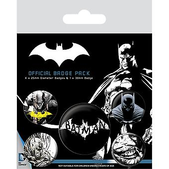 Batman Dark Pin Button Badges Set