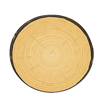 Wood Texture Printed Area Rug Round Rugs for Living Room Kids Room