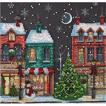 Abris Art Bead Embroidery Kit With Thread - Holiday Town