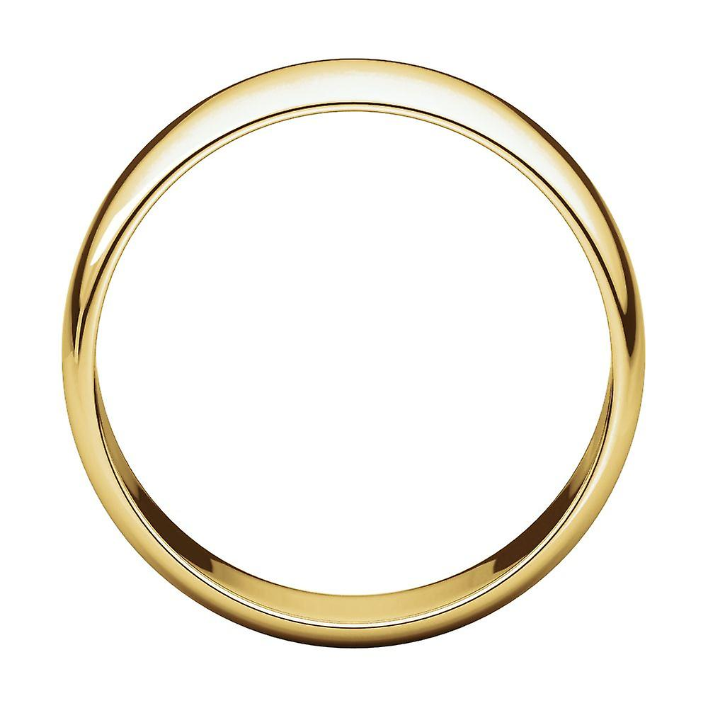 Echt Fantastisk pris 14k Yellow Gold 7mm Light Half Round Band Ring Jewelry Gifts for Women - Ring Size: 5.5 to 14 10KaL