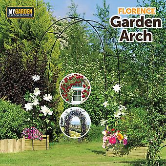 Metal Garden Rose Arch Climbing Plants Archway Patio Gateway Path Black