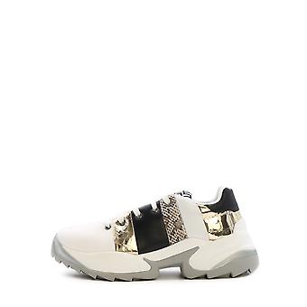 Sergio Rossi A87310mfn8059559 Women's White/gold Leather Sneakers