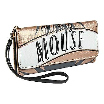Retro Mickey Mouse Large Clutch Purse