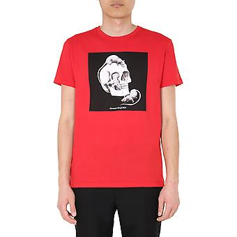 Alexander Mcqueen 611010qozb40905 Men's Red Cotton T-shirt