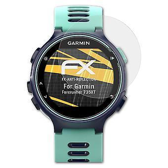 atFoliX 3x Screen Protection Film yhteensopiva Garmin Forerunner 735XT matta & iskunkestävä