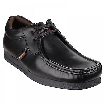 Base London Mens Storm Waxy Black Waxy Leather Casual Shoes