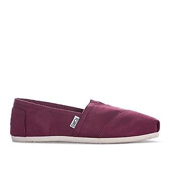 Women's Toms Twill Espadrille Pumps in Red