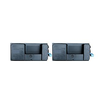 RudyTwos 2x Replacement for Kyocera TK-3160 Toner Unit Black Compatible with ECOSYS P3045dn, P3050dn, P3055dn, P3060dn