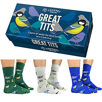 Cockney Spaniel Great Tits Socks For Men